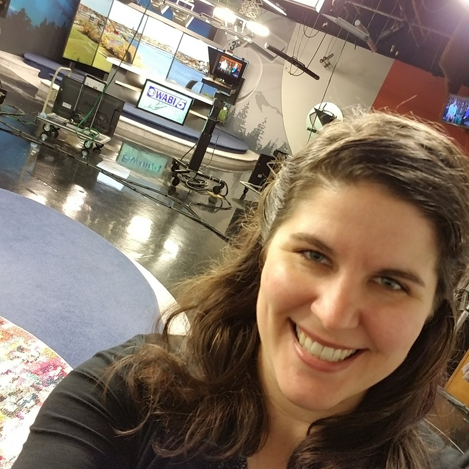 Emma G. Rose on a television news set